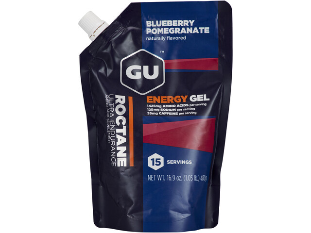 GU Energy Roctane Isokokoinen Energiageelipakkaus 480g, Blueberry Pomegranate